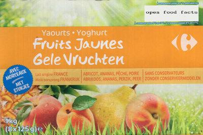 Yaourt fruits jaunes avec morceaux - Product - fr