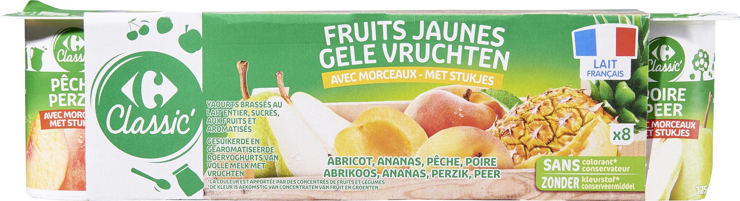 Yaourt Fruits jaunes avec morceaux - Produit - fr