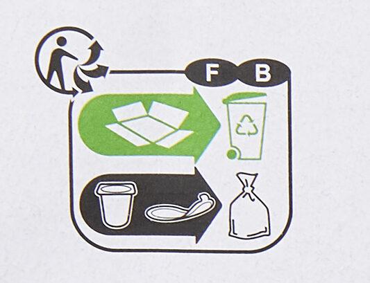 Yaourt Fruits jaunes avec morceaux - Instruction de recyclage et/ou informations d'emballage - fr