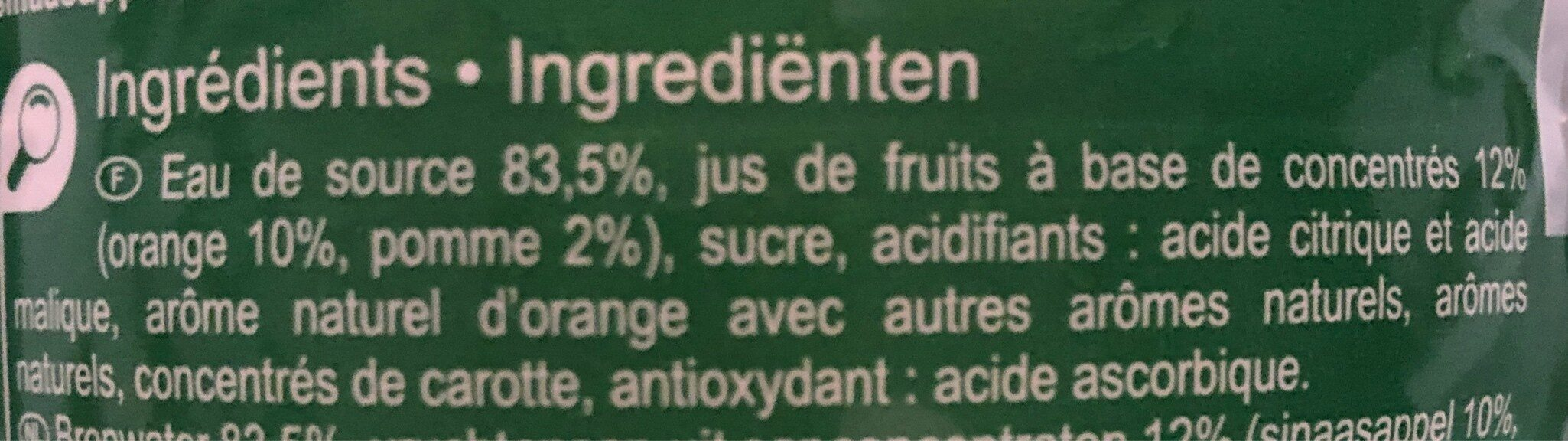 Saveur  orange - Ingrédients - fr