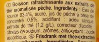 Iced tea pêche - Ingrédients - fr