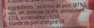 Lardons nature - Ingrédients - fr