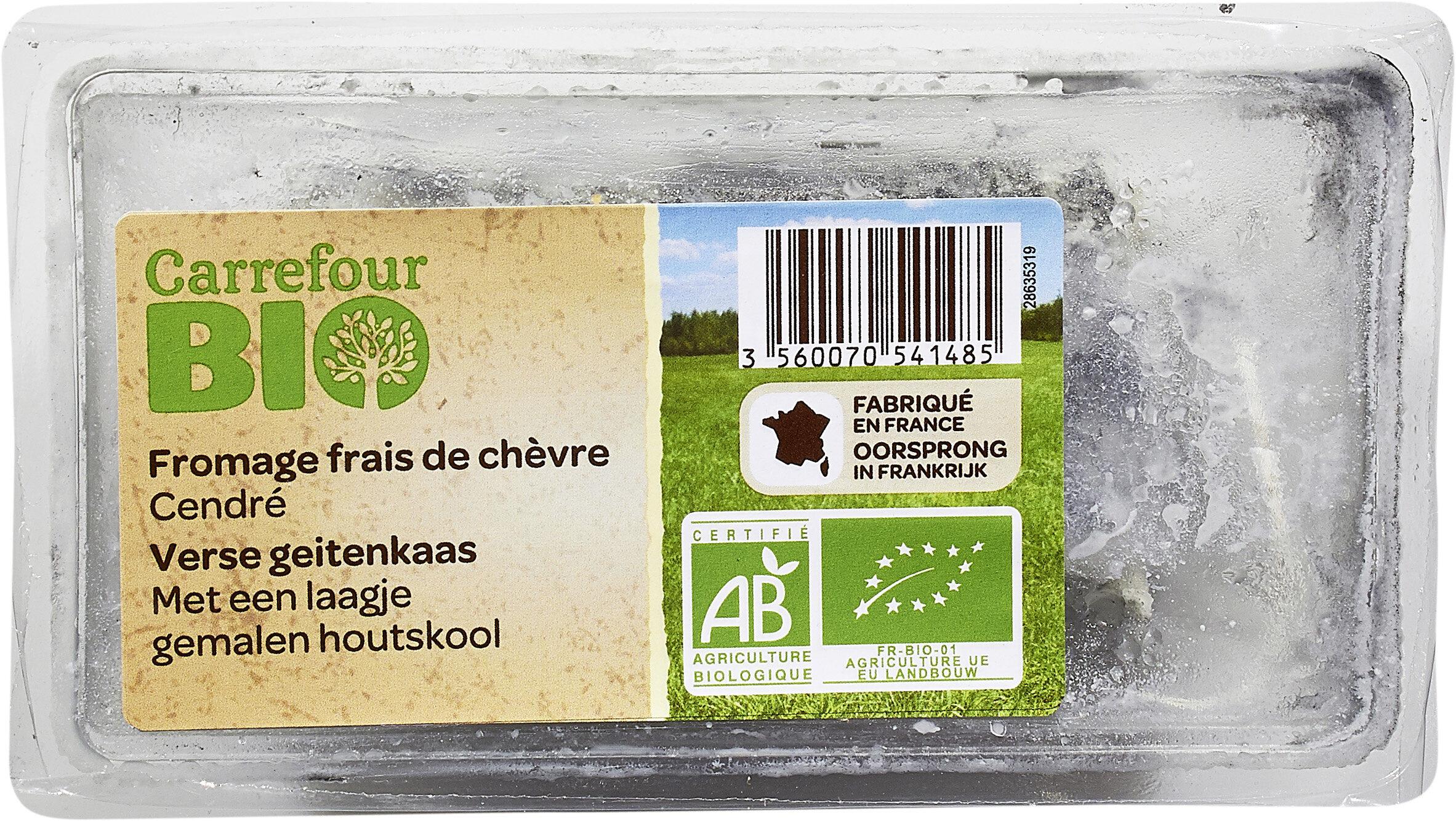 Fromage frais de chèvre cendré Bio - Prodotto - fr
