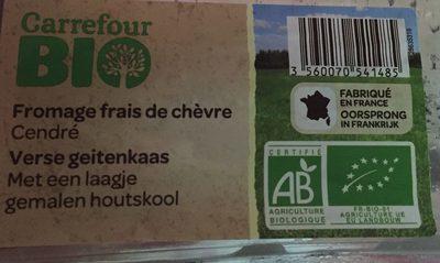 Fromage frais de chèvre cendré Bio - Ingredienti - fr