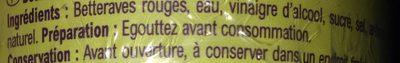 Betteraves  En dés - Ingrédients - fr