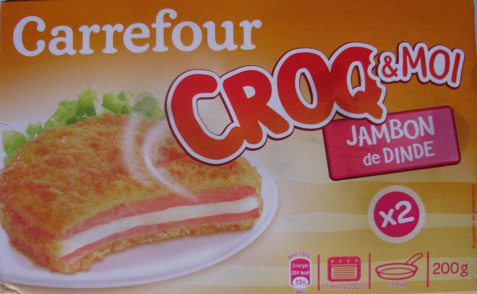 Croq&Moi, Jambon de dinde (x 2) - Produit - fr