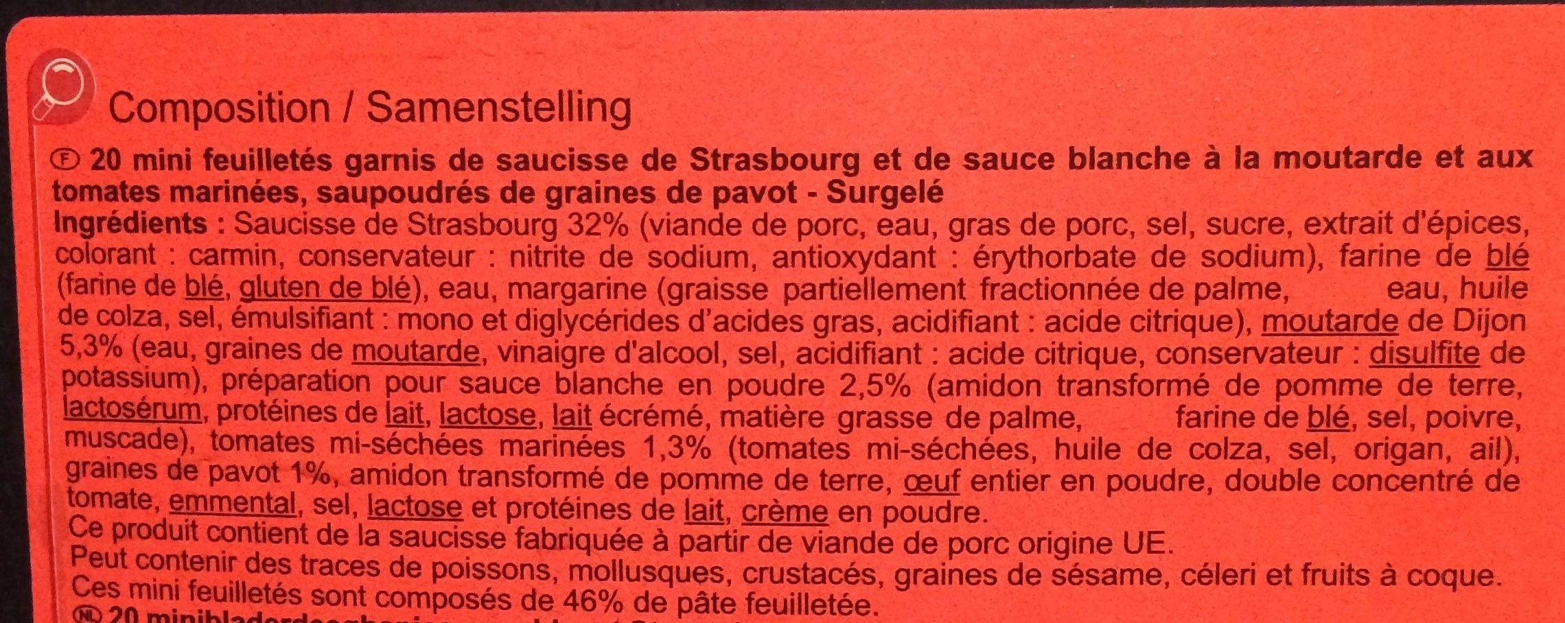 20 Mini feuilletés saucisse - Ingredients - fr