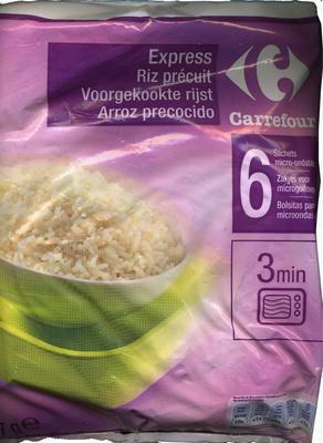 """Arroz precocido congelado """"Carrefour"""""""