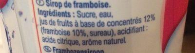 Sirop Framboise - Ingredienti - fr