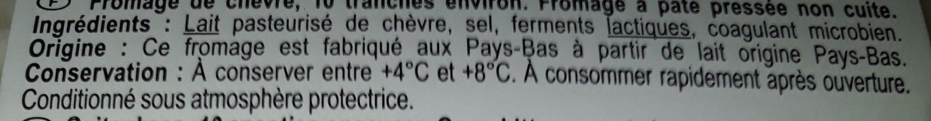 Chèvre - Ingrédients - fr