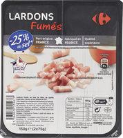 Lardons fumés -25% de sel*  *Par rapport à la moyenne des lardons du marché. - Product