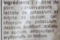 Lardons fumés -25% de sel*  *Par rapport à la moyenne des lardons du marché. - Ingredients