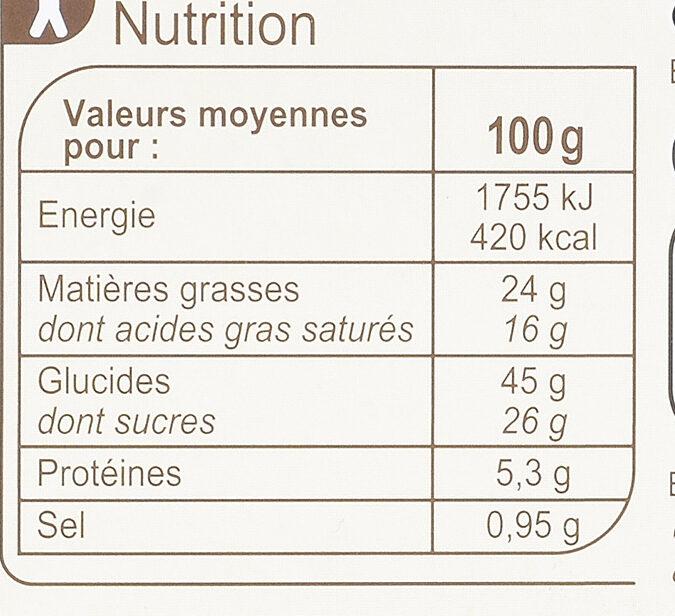 Quatre-Quarts Pur beurre - Informations nutritionnelles - fr