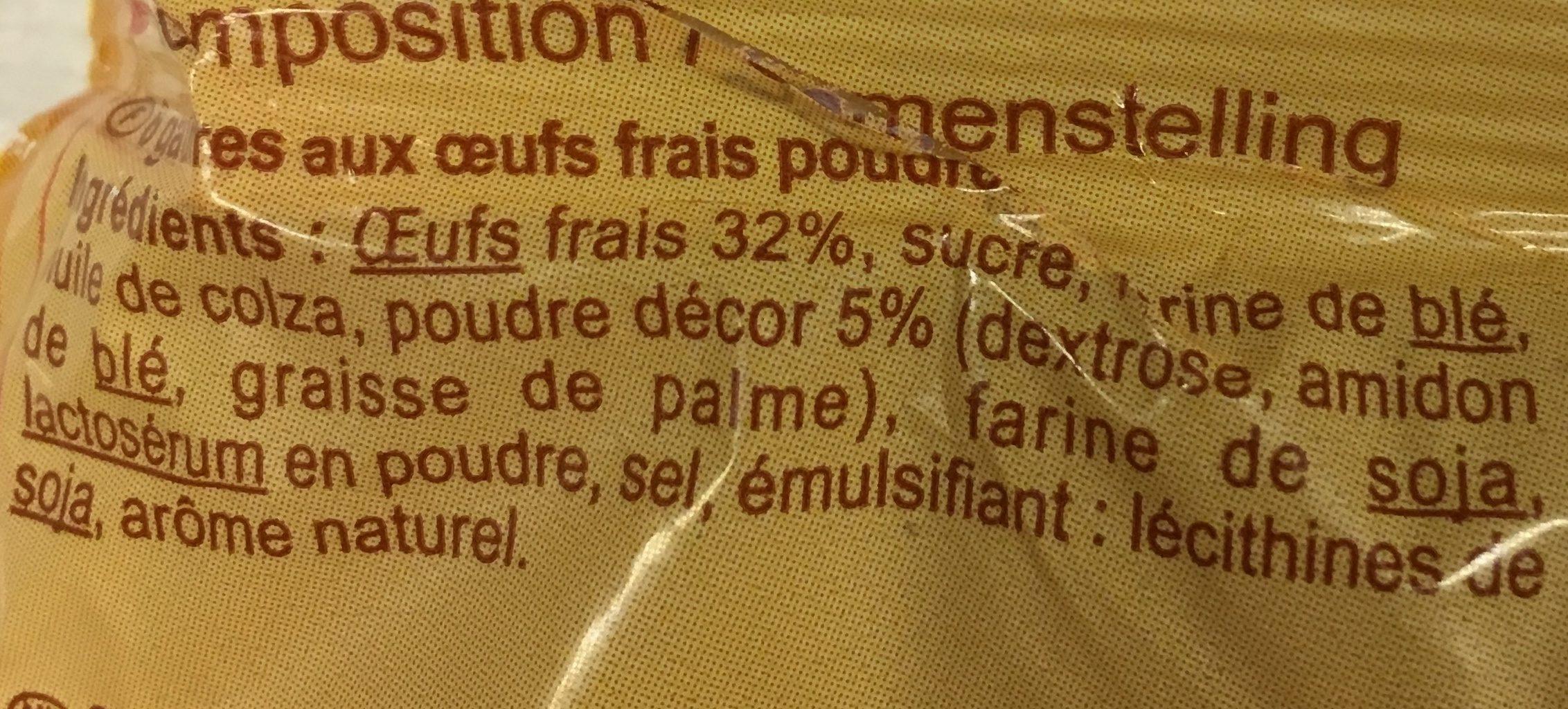 Gaufres moelleuses - Ingredients - fr