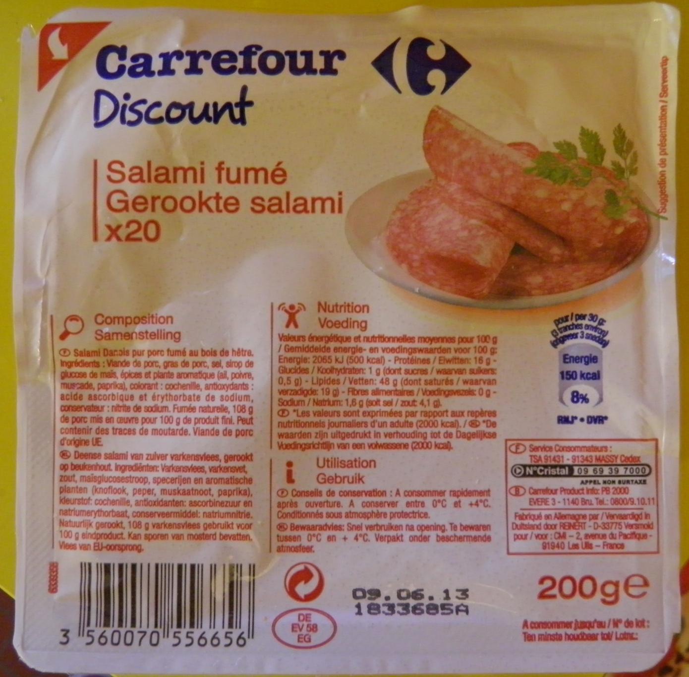 Salami fumé Carrefour Discount - Product