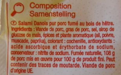 Salami fumé Carrefour Discount - Ingrediënten