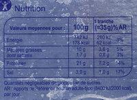 Saumon Fumé D'ecosse Fumé Au Bois De Hêtre - Nutrition facts - fr