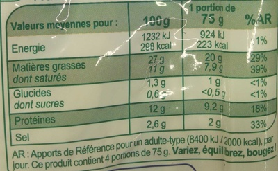Poitrine Nature (x 4) - Informations nutritionnelles - fr