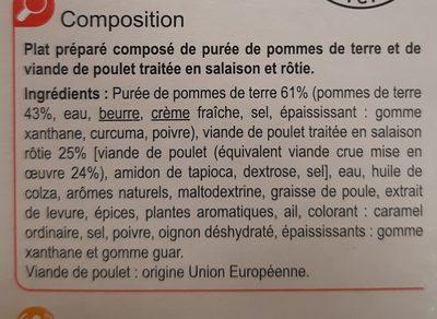 Poulet rôti et sa purée de pomme de terre - Ingrédients - fr