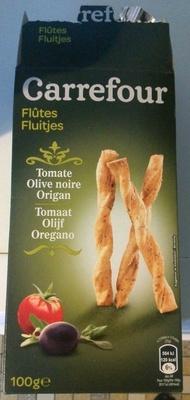 Flûtes tomate olive noir origan - Product