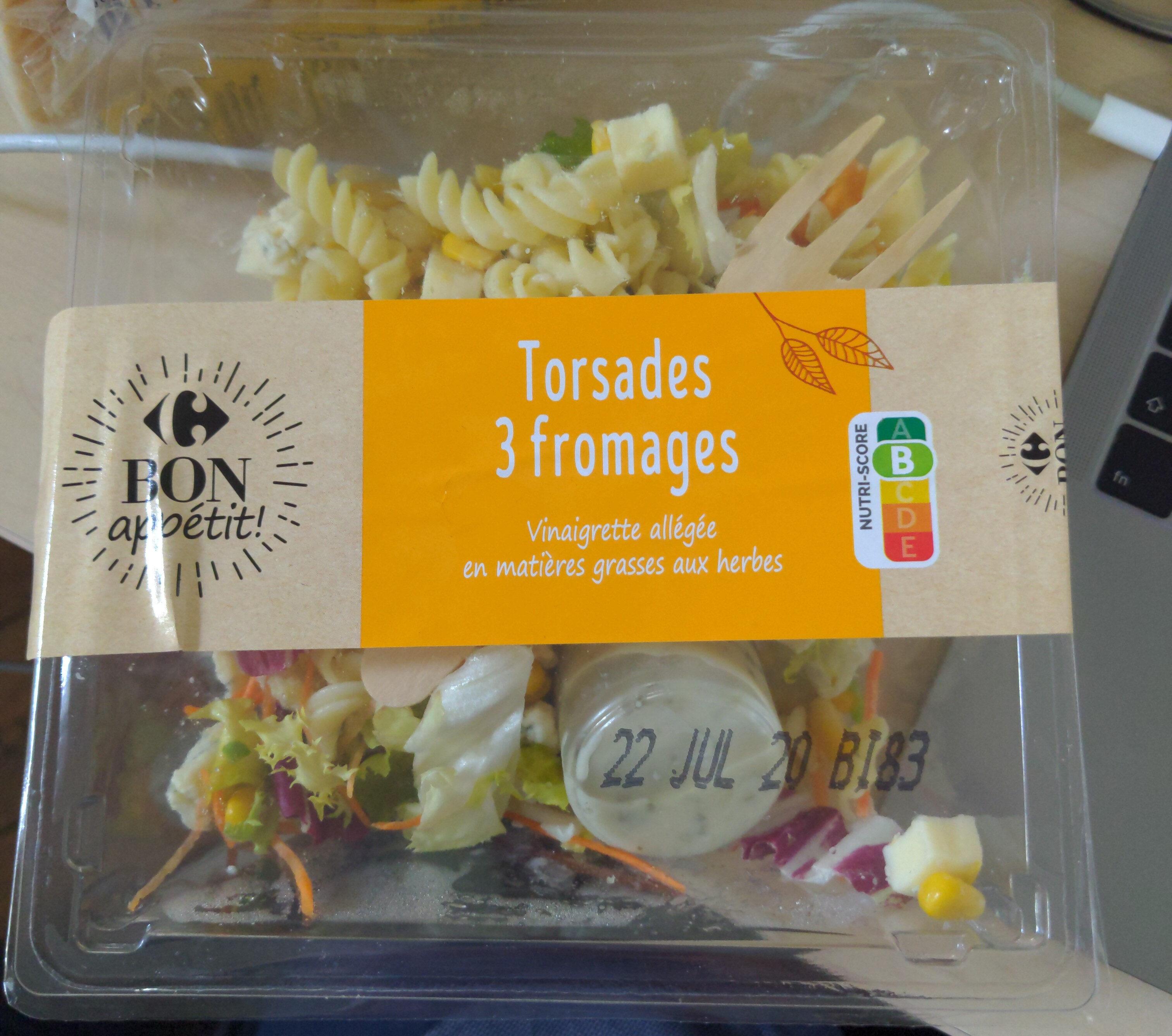 Torsades aux 3 fromages - Produit - fr