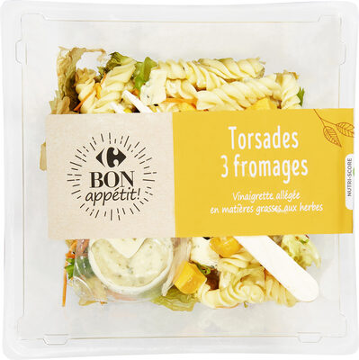 Torsades aux 3 fromages - Product - fr