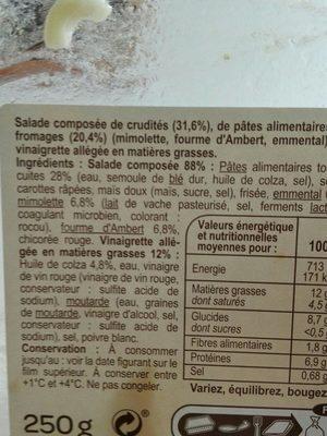 Torsades aux 3 fromages - Ingrédients
