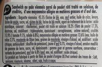 Poulet crudités oeuf Baguette viennoise - Ingrédients - fr