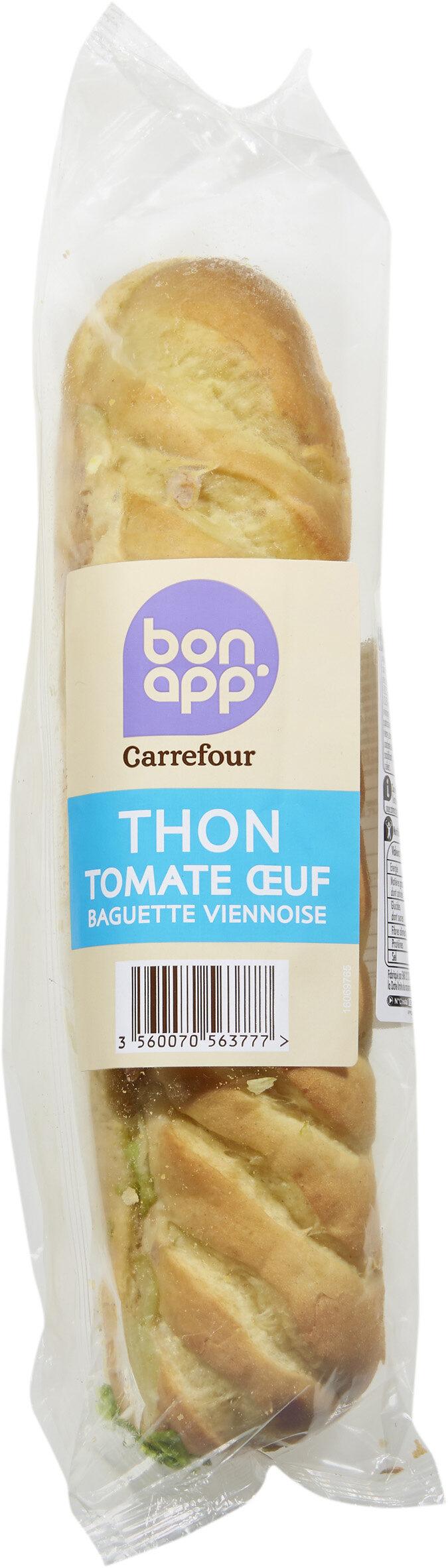 Thon crudités œuf Baguette viennoise - Product