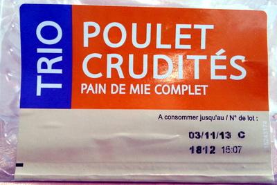 Trio Poulet Crudités - Produit - fr