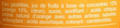 Bul'z saveur orange - Ingrediënten