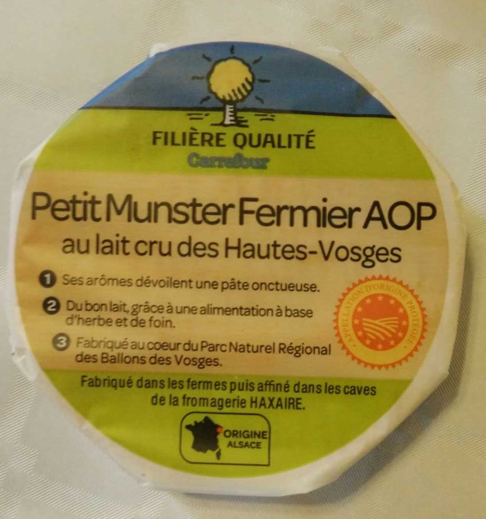 Petit Munster Fermier AOP (28% MG) - Product