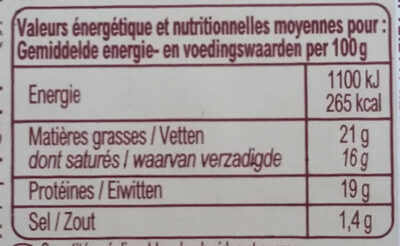 Cabécous Bio, 3 Fromages De Chèvre, 105 g - Nutrition facts