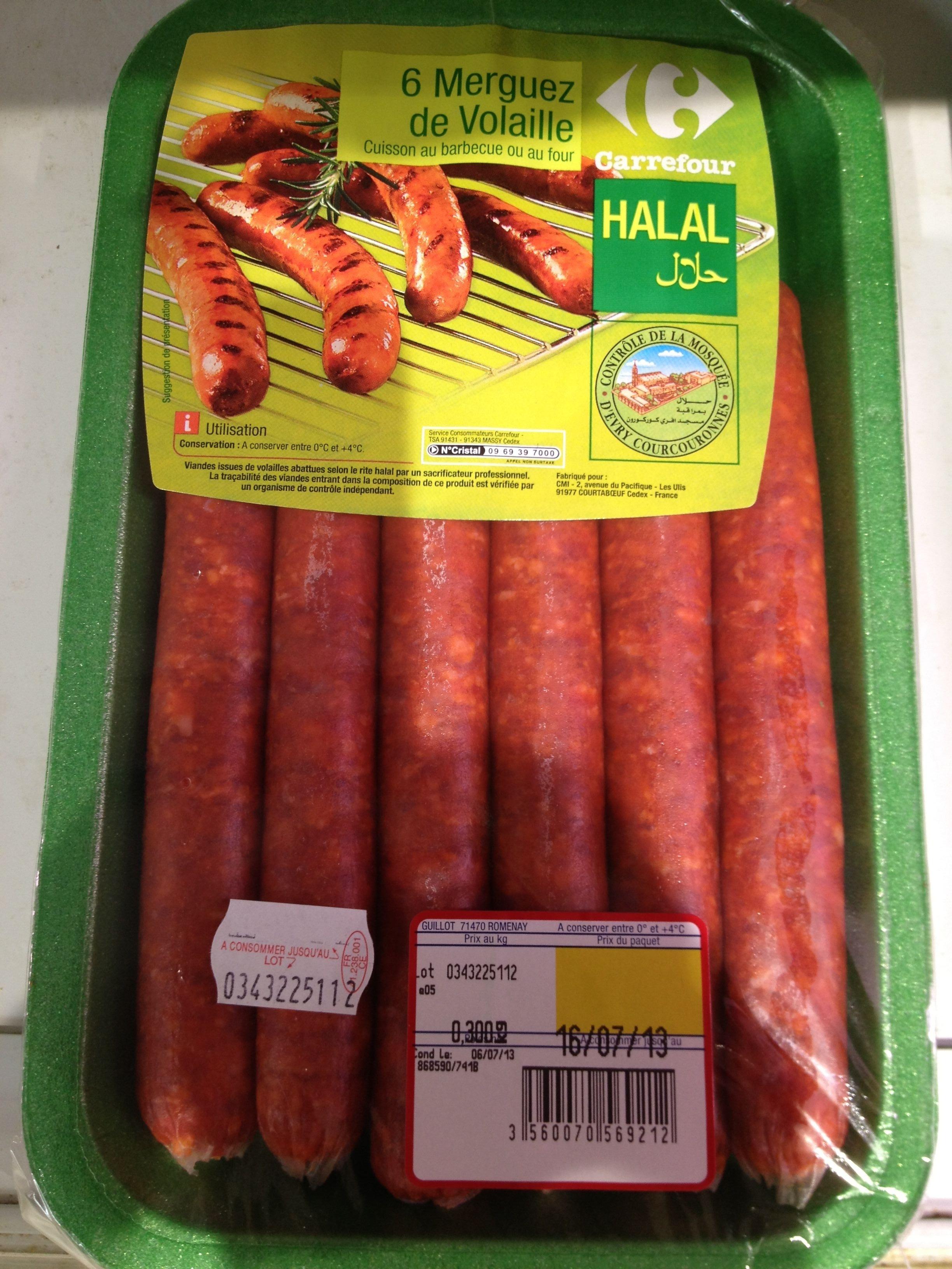 6 merguez de volailles halal - Product