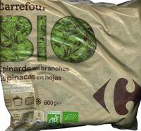 """Espinacas en hojas congeladas ecológicas """"Carrefour Bio"""" - Producto"""