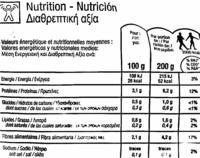"""Espinacas en hojas congeladas ecológicas """"Carrefour Bio"""" - Información nutricional"""