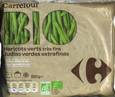 """Judías verdes redondas troceadas congeladas ecológicas """"Carrefour Bio"""" - Produit"""