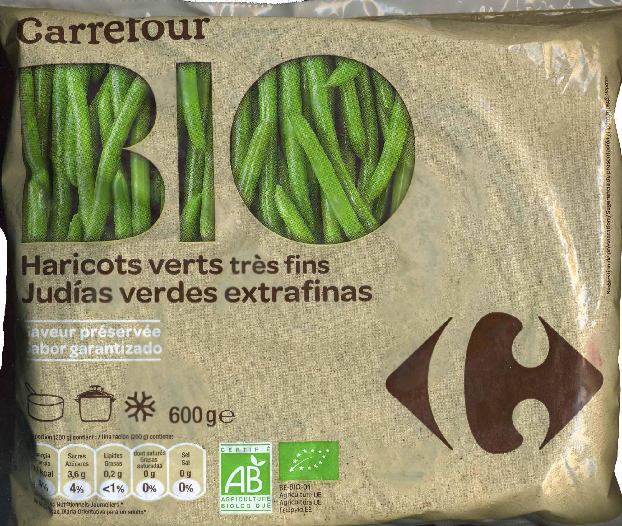 """Judías verdes redondas troceadas congeladas ecológicas """"Carrefour Bio"""" - Produit - es"""