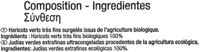 "Judías verdes redondas troceadas congeladas ecológicas ""Carrefour Bio"" - Ingrédients"