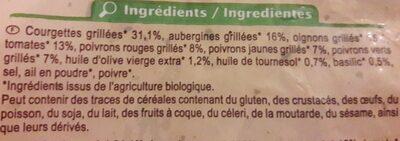 Poêlée de légumes grillés - Ingredientes