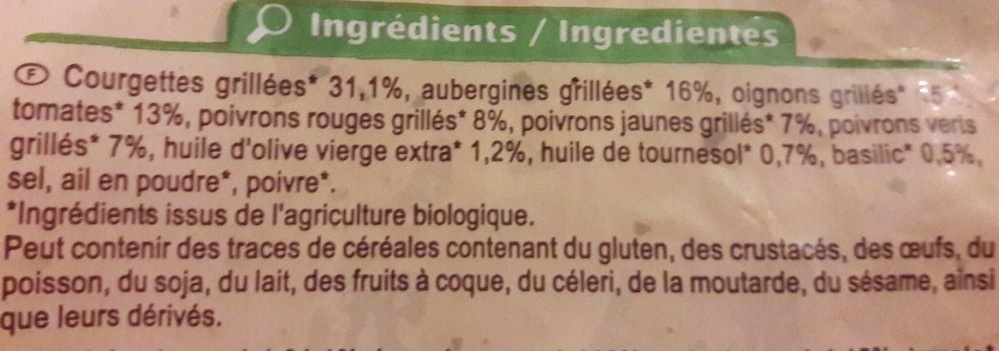 Poêlée de légumes grillés - Ingredientes - fr