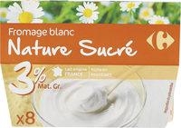 Fromage blanc Nature sucré - Produit - fr