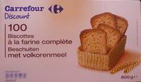 100 biscottes à la farine complète - Produit - fr