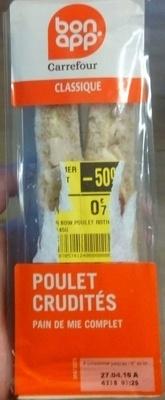 Poulet Crudités pain de mie complet - Product