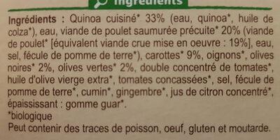 Poulet aux olives et quinoa - Ingrédients - fr
