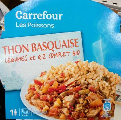 Thon basquaise, légumes et riz complet bio - Produit