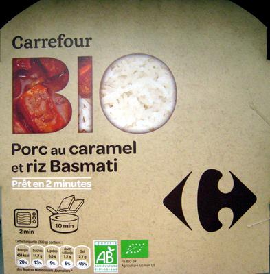 Porc au caramel et riz Basmati Bio - Produit