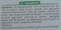 Porc au caramel et riz Basmati Bio - Ingrédients - fr