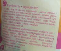 Bonbons tendres - Ingrediënten