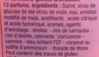 Jelly Bean - Ingrediënten